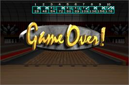 Game Over Screen for World Class Bowling.