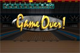 Game Over Screen for World Class Bowling Deluxe.