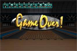 Game Over Screen for World Class Bowling Tournament.