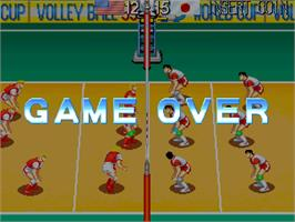 Game Over Screen for World Cup Volley '95.