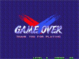 Game Over Screen for World Heroes Perfect.