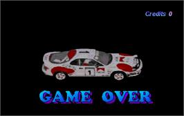 Game Over Screen for World Rally.