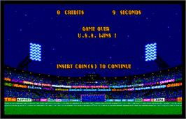 Game Over Screen for World Trophy Soccer.