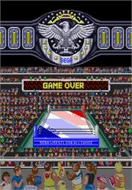 Game Over Screen for Wrestle War.