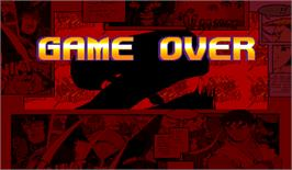 Game Over Screen for X-Men Vs. Street Fighter.