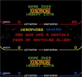 Game Over Screen for Xenophobe.