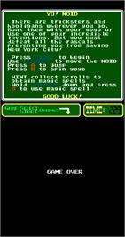 Game Over Screen for Yo! Noid.