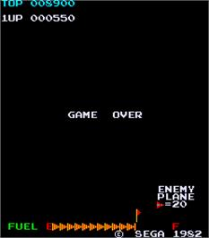 Game Over Screen for Zaxxon.