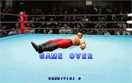 Game Over Screen for Zen Nippon Pro-Wrestling Featuring Virtua.