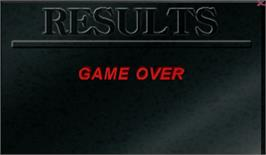 Game Over Screen for Zero Point.