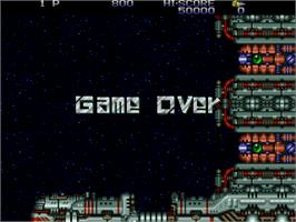 Game Over Screen for Zero Wing.