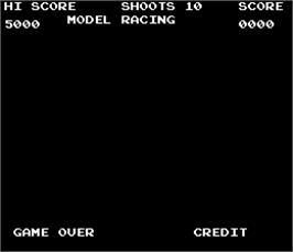 Game Over Screen for unknown Model Racing gun game.