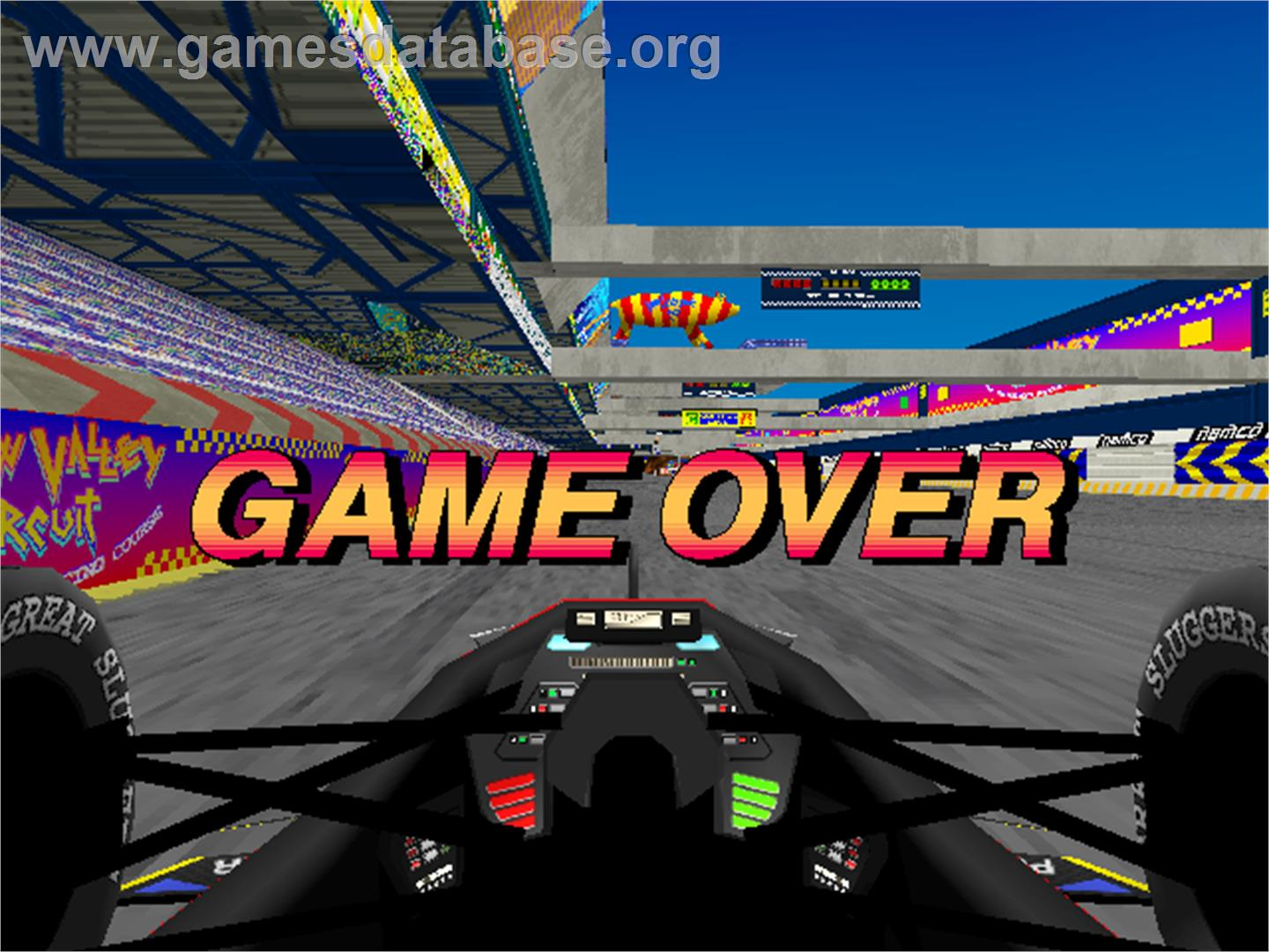 Ace Driver: Victory Lap - Arcade - Artwork - Game Over Screen
