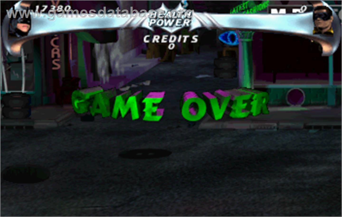 Batman Forever - Arcade - Artwork - Game Over Screen