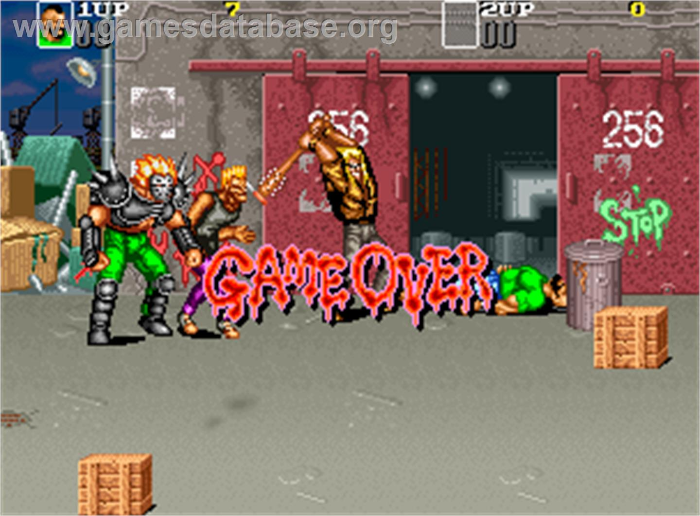 Crime Fighters 2 - Arcade - Artwork - Game Over Screen