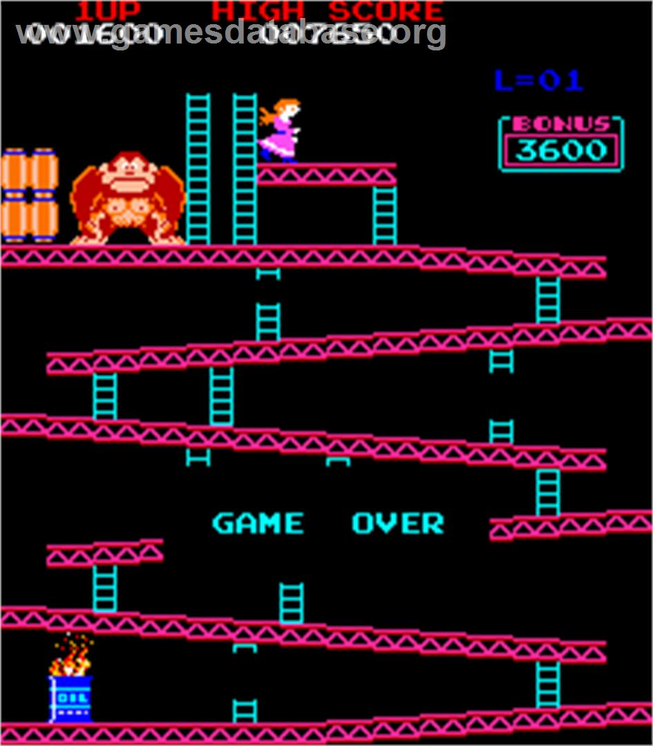 Donkey Kong Foundry - Arcade - Artwork - Game Over Screen