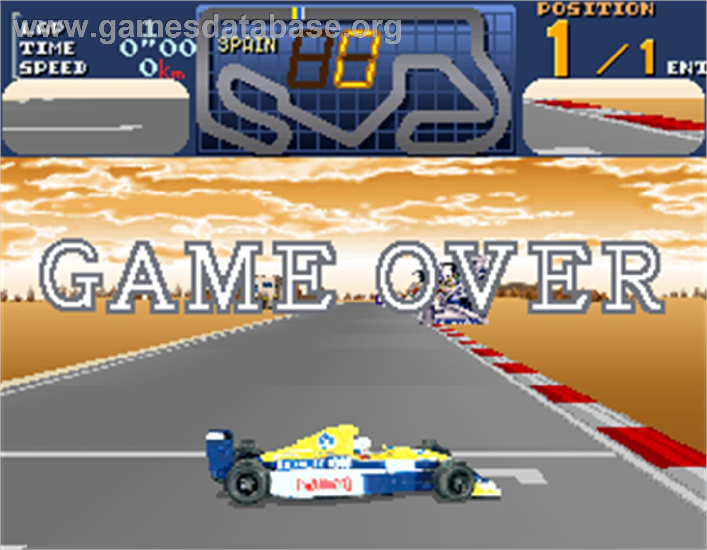 Final Lap 3 - Arcade - Artwork - Game Over Screen