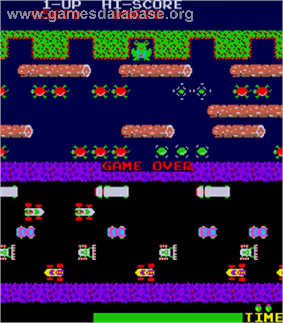 Frogger - Arcade - Artwork - Game Over Screen