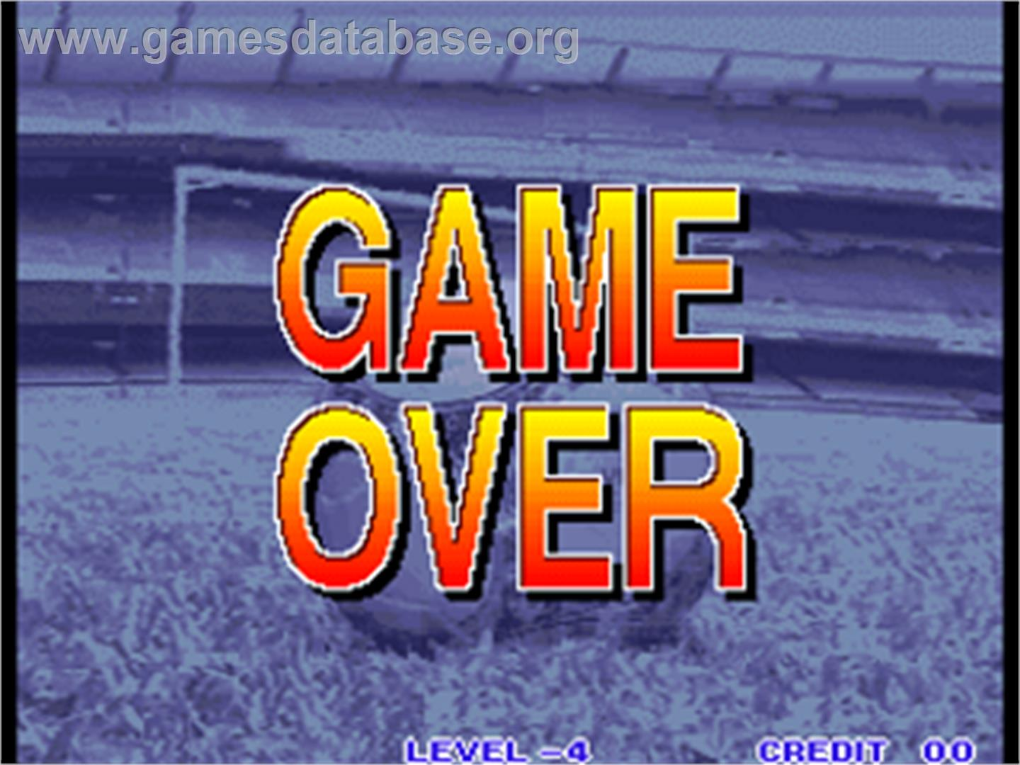 Goal! Goal! Goal! - Arcade - Artwork - Game Over Screen