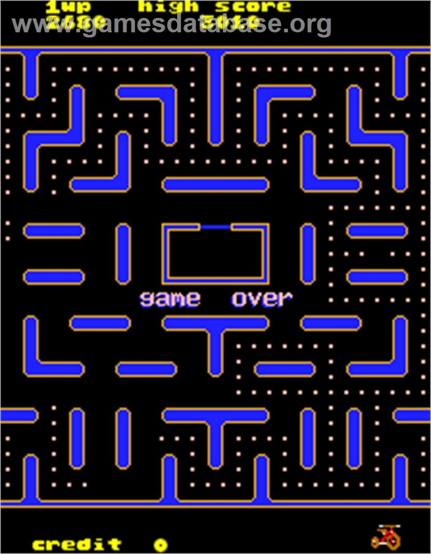 Jr. Pac-Man - Arcade - Artwork - Game Over Screen