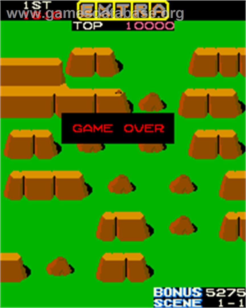 Jumping Jack - Arcade - Artwork - Game Over Screen
