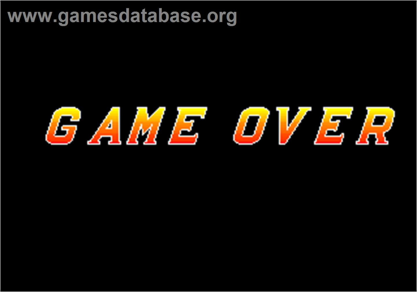 Kaiser Knuckle - Arcade - Artwork - Game Over Screen