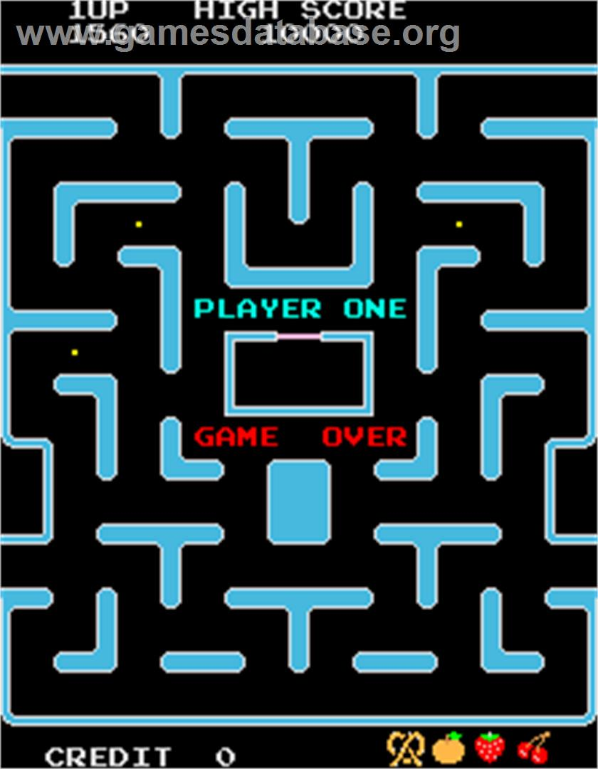 Ms. Pac-Man/Galaga - 20th Anniversary Class of 1981 Reunion - Arcade - Artwork - Game Over Screen