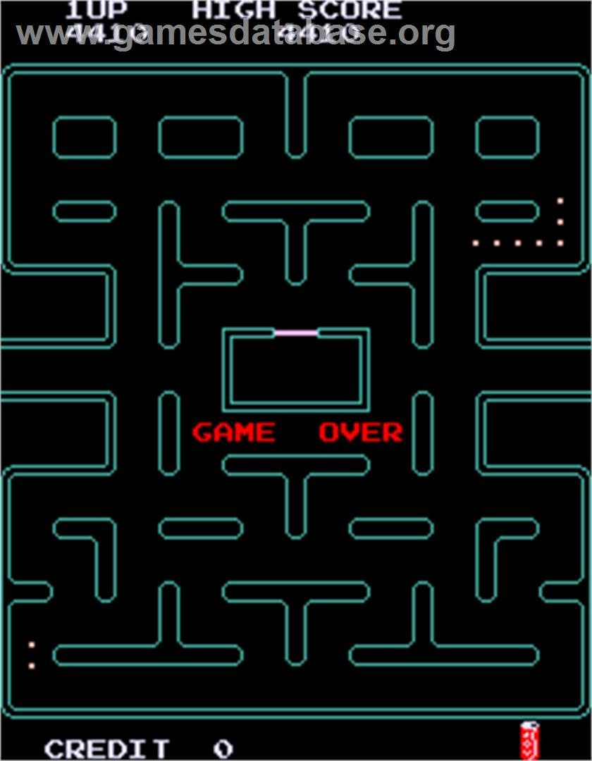 Pac-Man Plus - Arcade - Artwork - Game Over Screen
