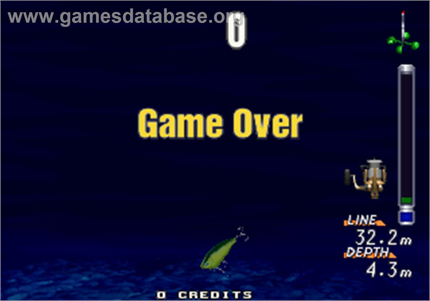 Sea bass fishing arcade games database for Fish arcade game
