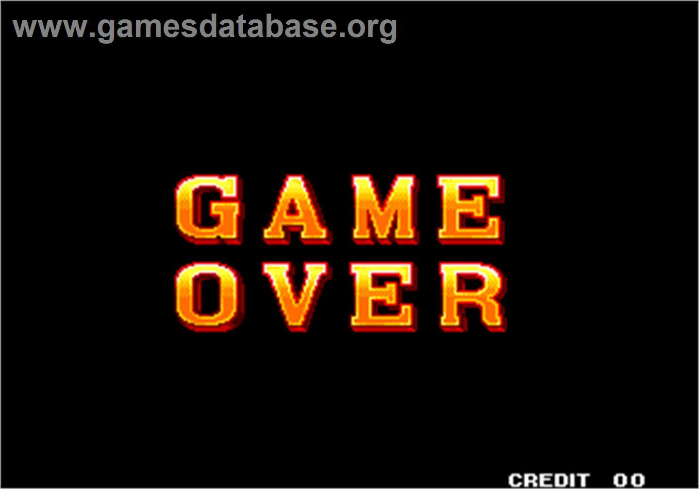 Sengoku 2 / Sengoku Denshou 2 - Arcade - Artwork - Game Over Screen