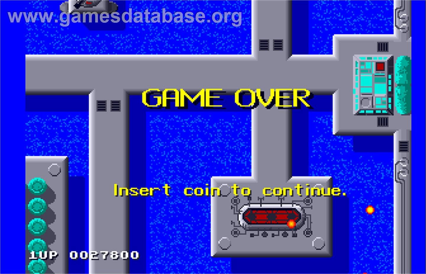 Sidewinder - Arcade - Artwork - Game Over Screen