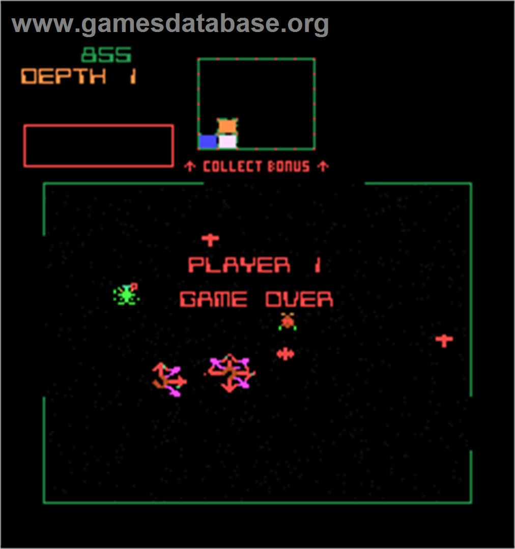 Space Dungeon - Arcade - Artwork - Game Over Screen