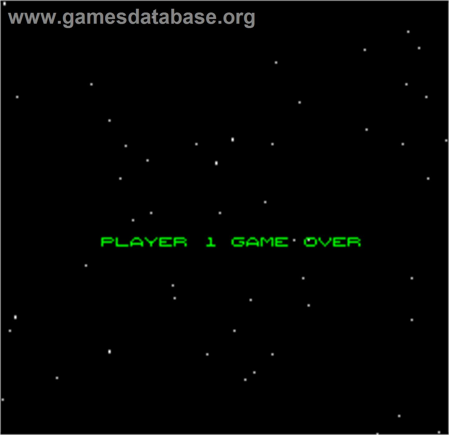 Space Fortress - Arcade - Artwork - Game Over Screen