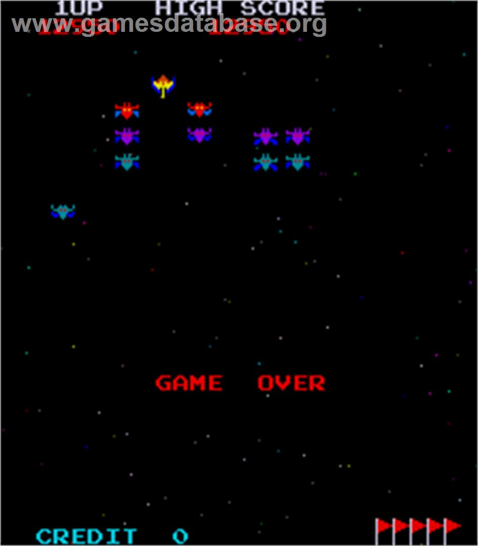 Space Invaders Galactica - Arcade - Artwork - Game Over Screen