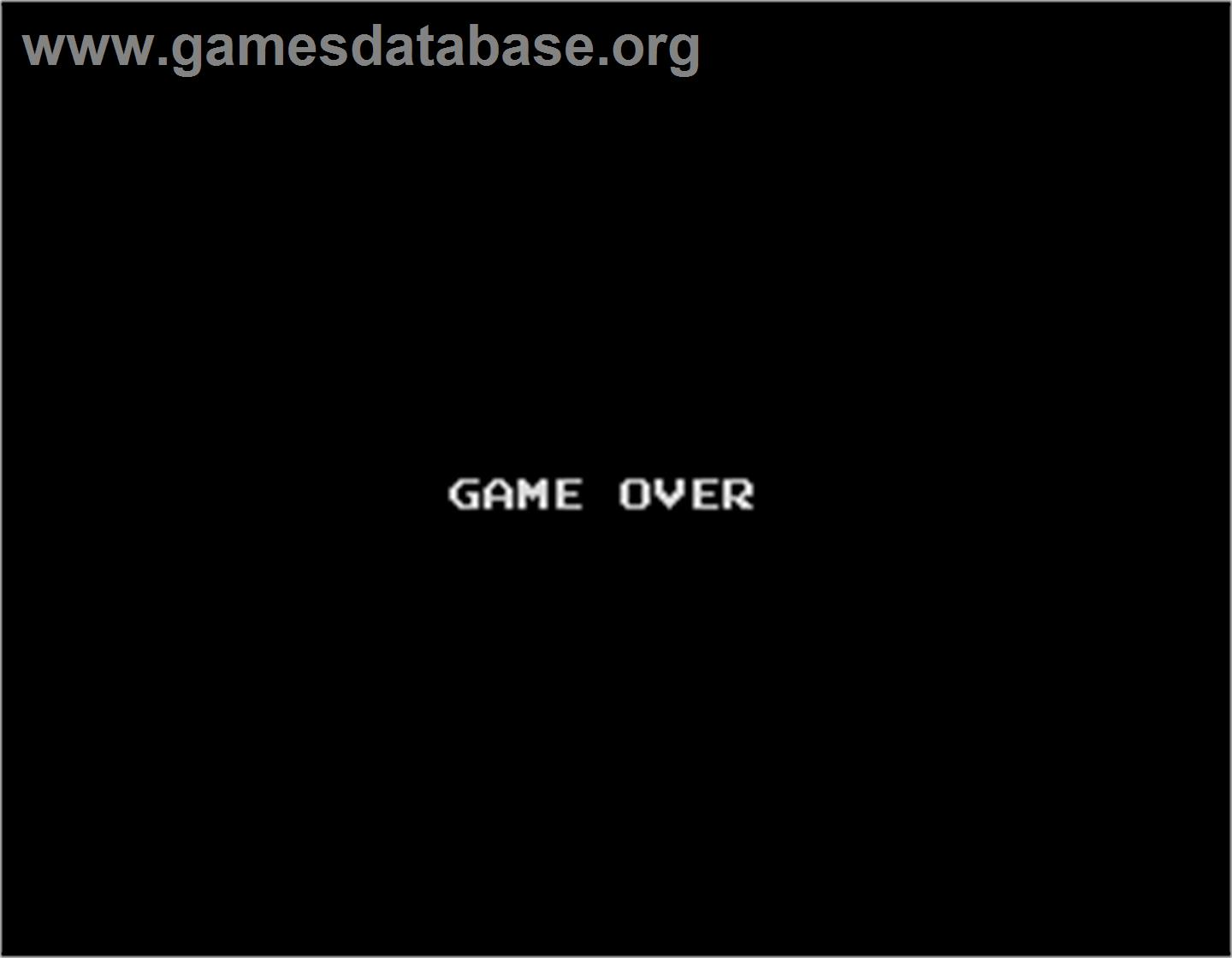 Splatter House - Arcade - Artwork - Game Over Screen