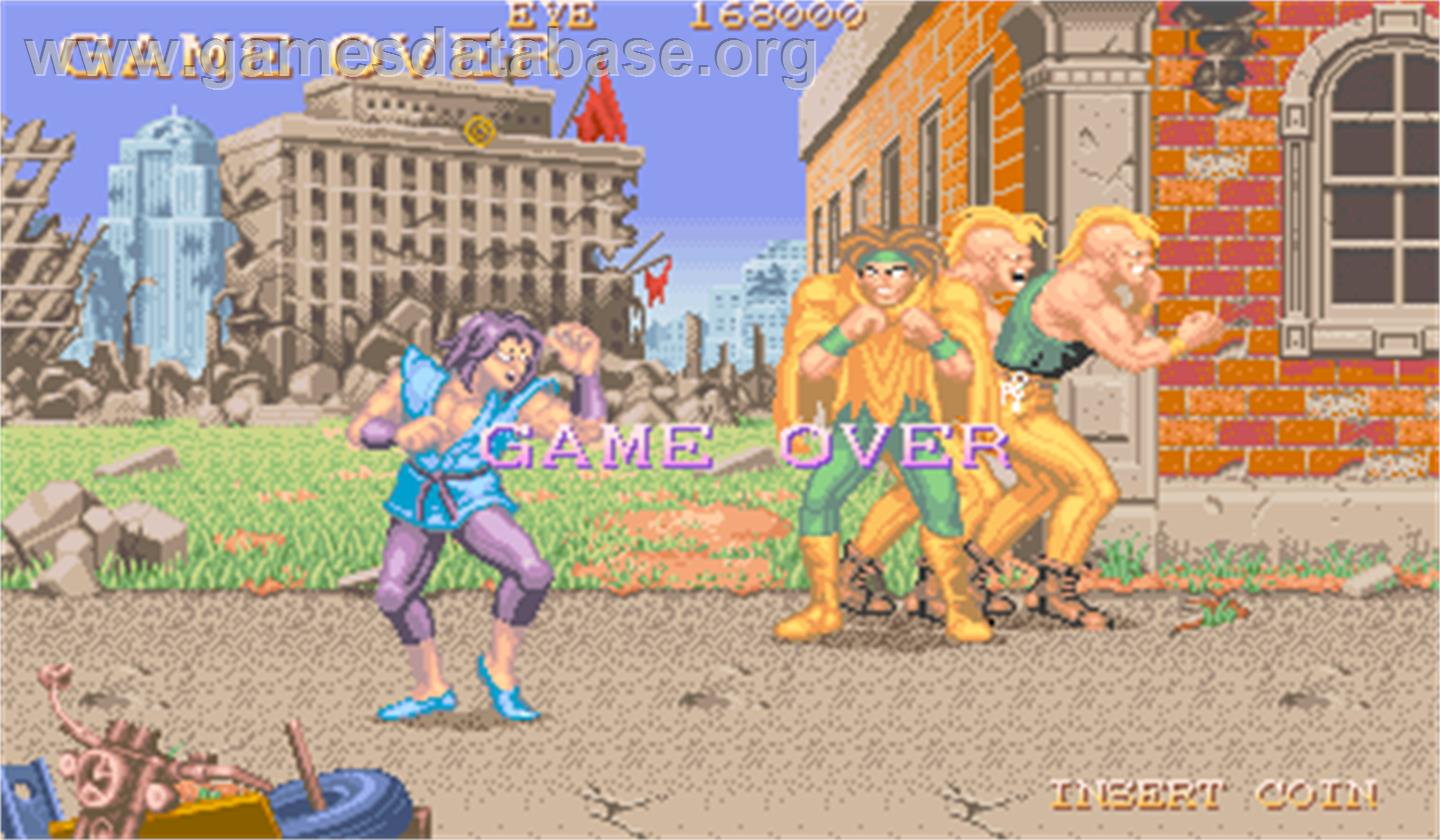 Violent Storm - Arcade - Artwork - Game Over Screen