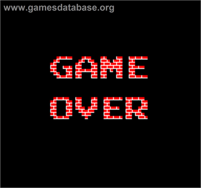 Game Over Screen for Vs. Battle City.