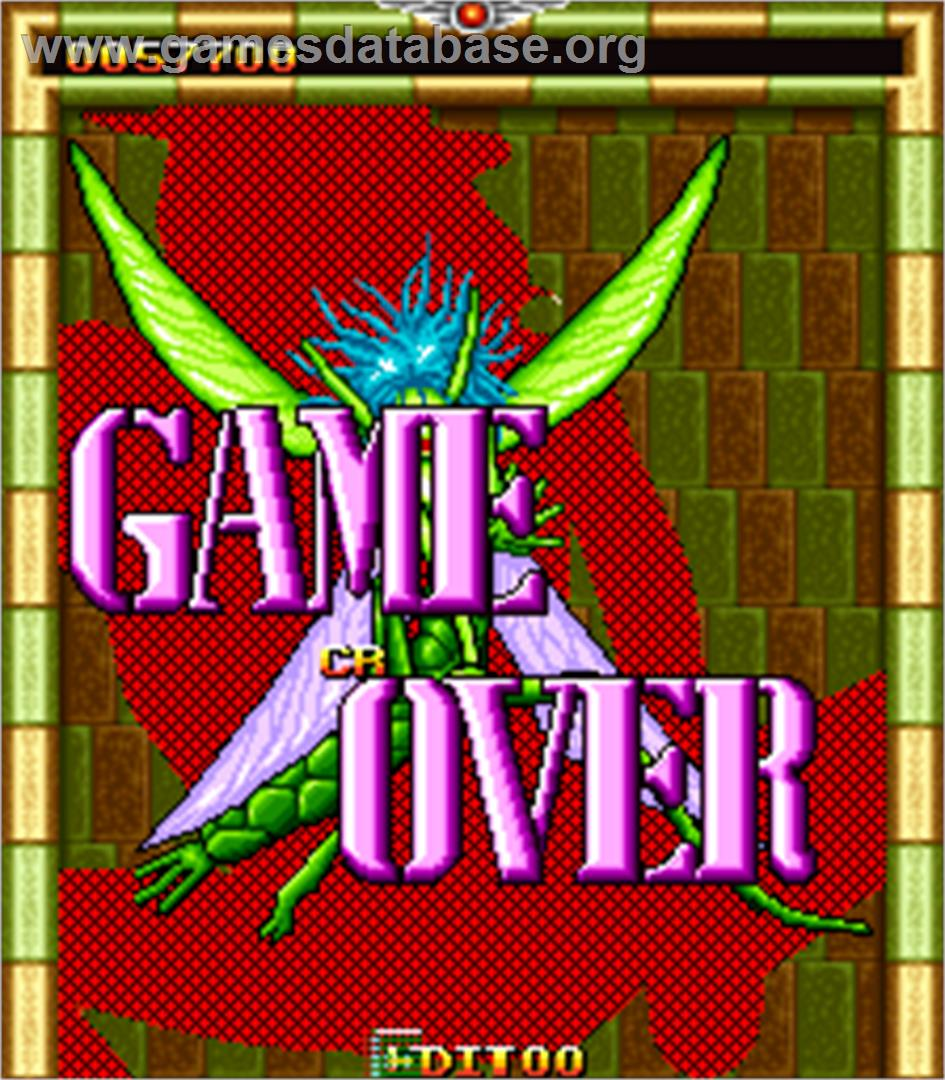 Zip & Zap - Arcade - Artwork - Game Over Screen