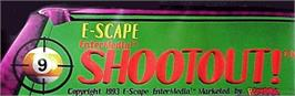 Arcade Cabinet Marquee for 9-Ball Shootout Championship.