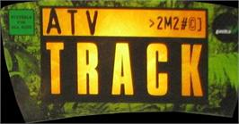 Arcade Cabinet Marquee for ATV Track.