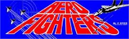 Arcade Cabinet Marquee for Aero Fighters.