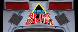 Arcade Cabinet Marquee for After Burner II.