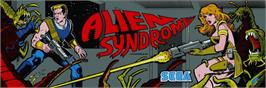 Arcade Cabinet Marquee for Alien Syndrome.