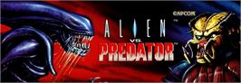 Arcade Cabinet Marquee for Alien vs. Predator.
