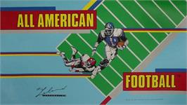 Arcade Cabinet Marquee for All American Football.