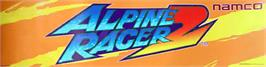Arcade Cabinet Marquee for Alpine Racer 2.