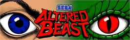 Arcade Cabinet Marquee for Altered Beast.