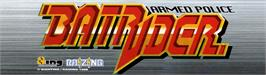 Arcade Cabinet Marquee for Armed Police Batrider.