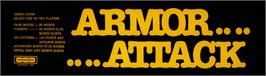 Arcade Cabinet Marquee for Armor Attack.