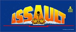 Arcade Cabinet Marquee for Assault.